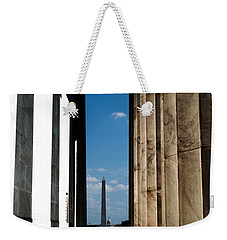 Washington Monument Color Weekender Tote Bag by Angela DeFrias