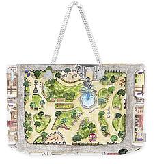 Washington Square Park Map Weekender Tote Bag by AFineLyne
