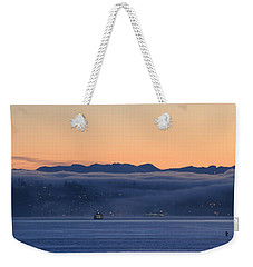 Washington State Ferries At Dawn Weekender Tote Bag