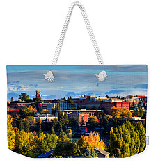 Washington State University In Autumn Weekender Tote Bag by David Patterson