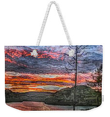 Watauga Lake Sunset Weekender Tote Bag