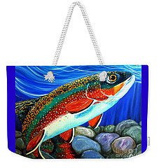 Brook Trout  Weekender Tote Bag by Jackie Carpenter