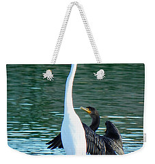 Weekender Tote Bag featuring the photograph Watch This by Deb Halloran