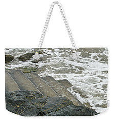 Weekender Tote Bag featuring the photograph Watch Your Step by Brenda Brown