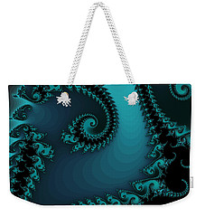 Weekender Tote Bag featuring the digital art Watchers On The Chalcedony Slide by Elizabeth McTaggart