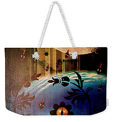 Weekender Tote Bag featuring the mixed media Watching by Ally  White