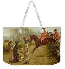 Watching The Hunt Weekender Tote Bag