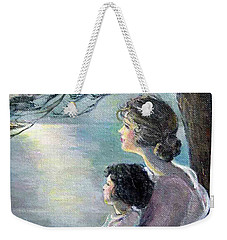 Watching The Moon Weekender Tote Bag