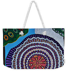 Weekender Tote Bag featuring the painting Watching The Show by Barbara St Jean