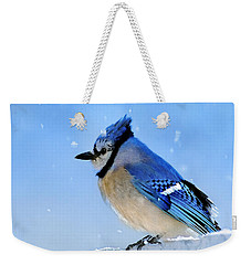 Watching The Snow Weekender Tote Bag by Betty LaRue