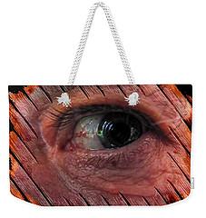 Weekender Tote Bag featuring the digital art Watching You by Maciek Froncisz