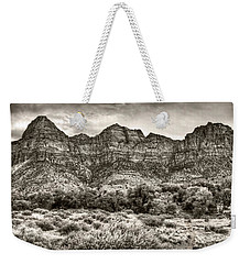 Watchman Trail In Sepia - Zion Weekender Tote Bag by Tammy Wetzel