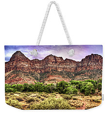 Watchman Trail - Zion Weekender Tote Bag by Tammy Wetzel