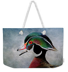 Water Color Wood Duck Weekender Tote Bag by Steve McKinzie