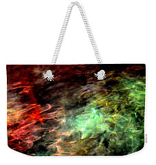 Weekender Tote Bag featuring the photograph Water Colors by Deena Stoddard