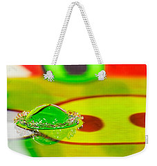 Weekender Tote Bag featuring the photograph Water Crown by Peter Lakomy