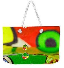 Weekender Tote Bag featuring the photograph Water Dew by Peter Lakomy