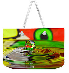 Weekender Tote Bag featuring the photograph Water Drop by Peter Lakomy