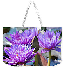 Weekender Tote Bag featuring the photograph Water Flower 1006 by Marty Koch