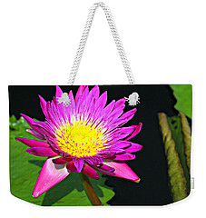 Weekender Tote Bag featuring the photograph Water Flower 10089 by Marty Koch