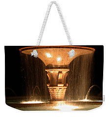 Water Fountain At Night Weekender Tote Bag