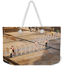 Weekender Tote Bag featuring the photograph Water Fun by Mary Carol Story