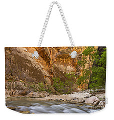 Weekender Tote Bag featuring the photograph Water In The Narrows by Bryan Keil