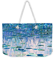 Weekender Tote Bag featuring the photograph Water Lilies by Chris Anderson
