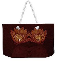 Water Lilies In Deep Sepia Weekender Tote Bag