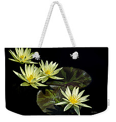 Weekender Tote Bag featuring the photograph Water Lilies In Yellow by Julie Palencia