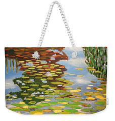 Water Lilies Weekender Tote Bag by Karyn Robinson