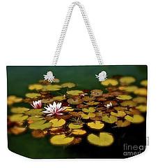 Water Lilies Weekender Tote Bag by Linda Bianic