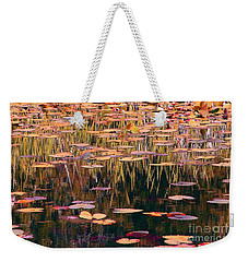 Weekender Tote Bag featuring the photograph Water Lilies Revisited by Chris Anderson