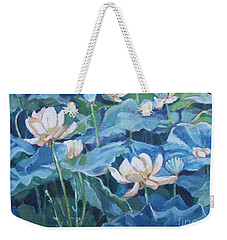 Water Lilies Two Weekender Tote Bag