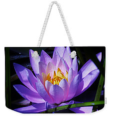 Water Lily Blues Weekender Tote Bag by Sherman Perry
