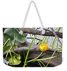 Weekender Tote Bag featuring the photograph Water Lily by Cathy Mahnke