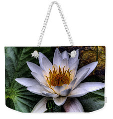 Water Lily Weekender Tote Bag by David Patterson