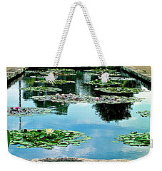 Water Lily Garden Weekender Tote Bag by Zafer Gurel