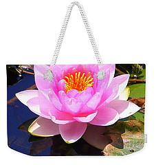 Water Lily In Pink Weekender Tote Bag