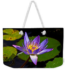 Water Lily  Weekender Tote Bag by Scott Carruthers