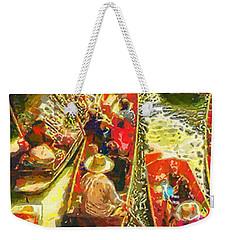 Water Market Weekender Tote Bag by Mo T