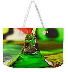 Weekender Tote Bag featuring the photograph Water Mountain by Peter Lakomy