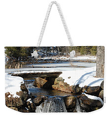 Water Over The Dam Weekender Tote Bag by Mim White