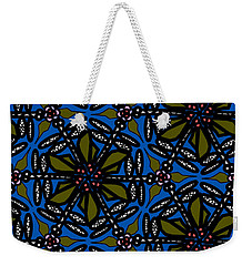 Weekender Tote Bag featuring the digital art Water Plant And Dragonfly by Elizabeth McTaggart