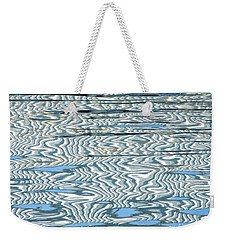 Water Stripes Abstract Weekender Tote Bag