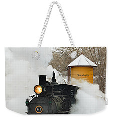 Water Tower Behind The Steam Weekender Tote Bag