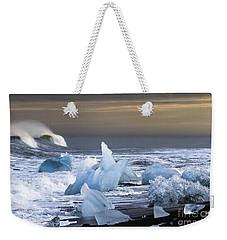 Water Versus Ice Weekender Tote Bag by Gunnar Orn Arnason