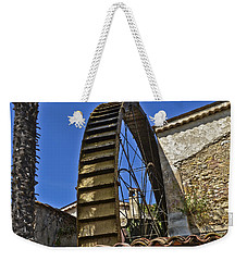 Weekender Tote Bag featuring the photograph Water Wheel At Moulin A Huile Michel by Allen Sheffield