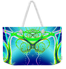 Water World Fractal Weekender Tote Bag