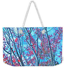Weekender Tote Bag featuring the photograph Watercolor Autumn Trees by Tikvah's Hope